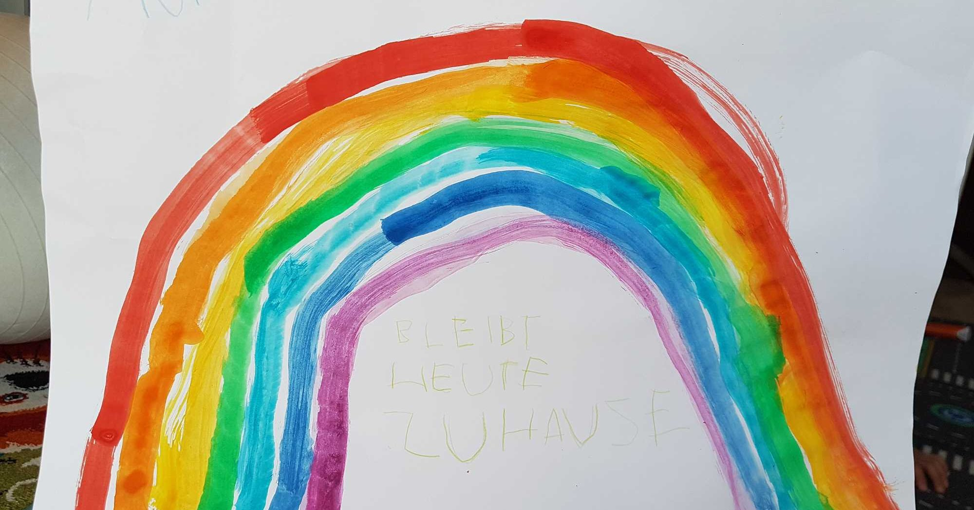 Regenbogenaktion - Unsere Kita-Kinder malen Kita Griesheim