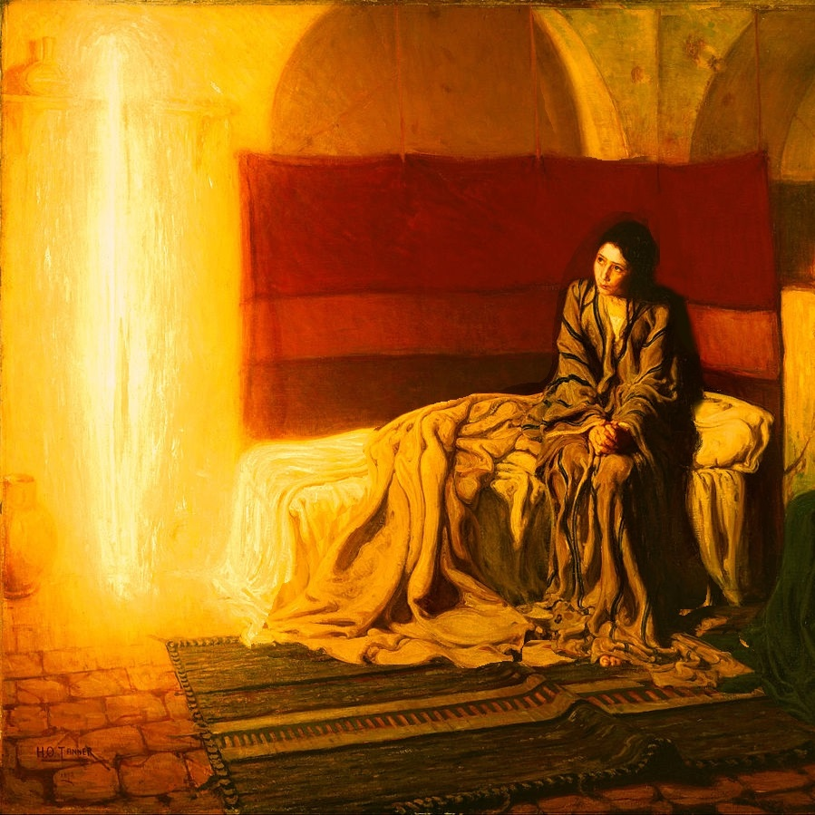 ,,The Annunciation'', gemalt 1898 von Henry Ossawa-Tanner (c) Google-Art-Project in Wikipedia