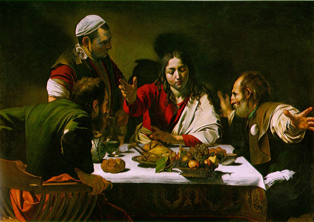 Supper at Emmaus by Caravaggio (c) Caravaggio / cc0 – gemeinfrei/ Quelle: Wikimedia Commons