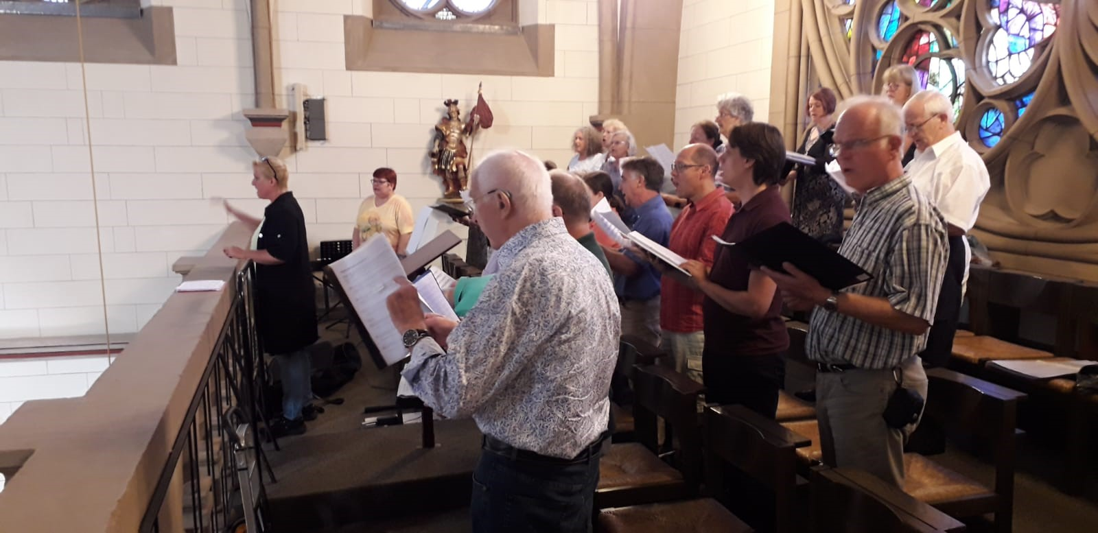 Chorausflug: Singen in St. Marien, Bad Homburg