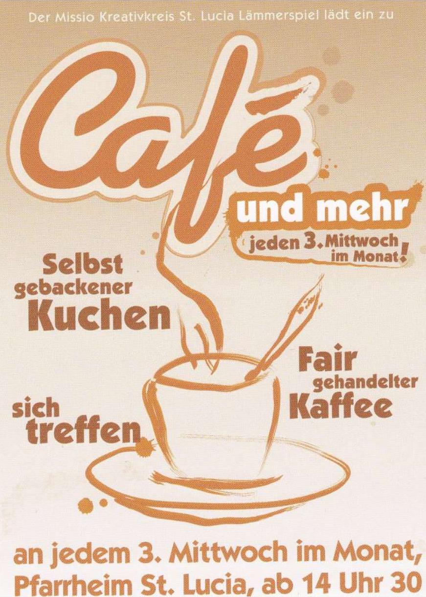 Cafe Und Mehr Pfarrei Lammerspiel