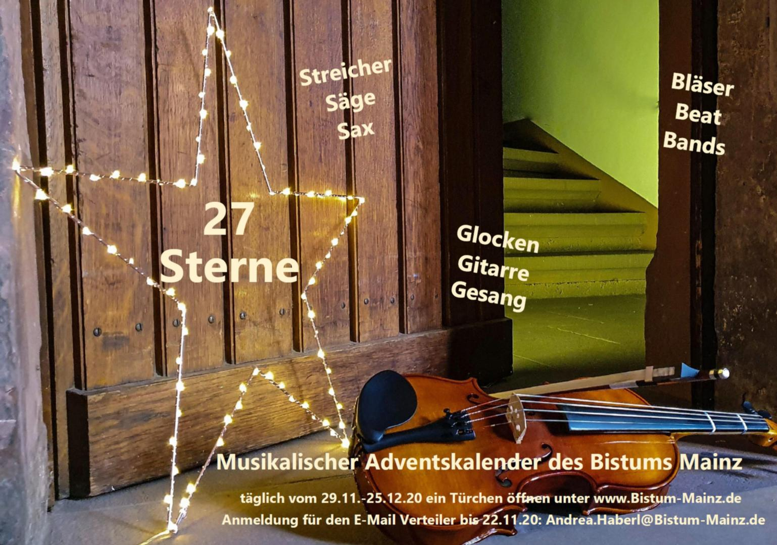 Musikalischer Adventskalender (c) Bistums Mainz