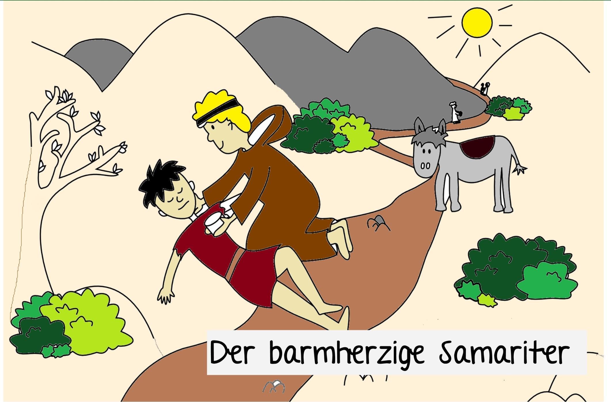 Für kinder samariter gleichnis vom barmherzigen Beispiel für