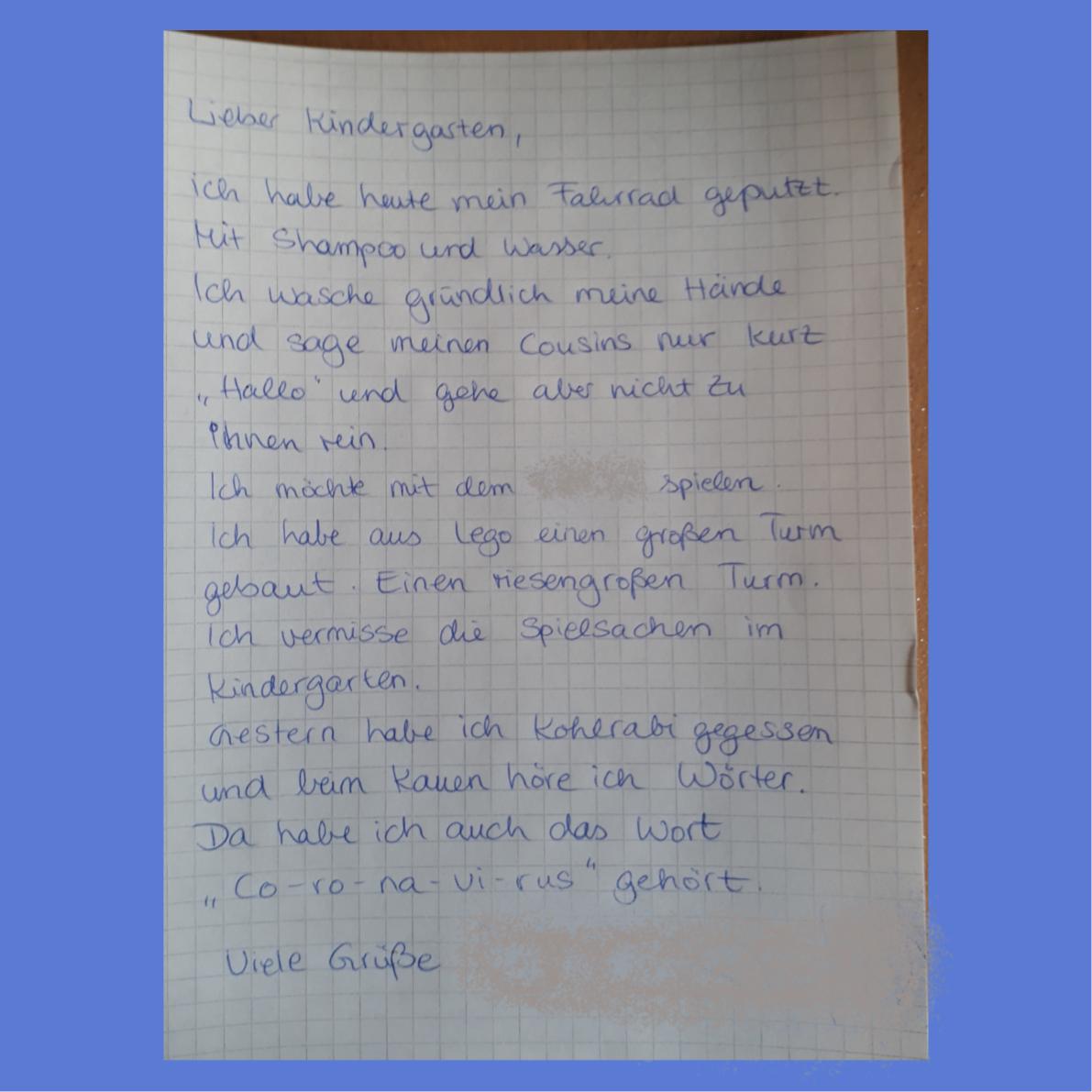 Für abschiedsbrief die kindergarten eine schreibe wie Abschied vom